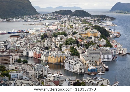 Amazing city on the Atlantic coast - stock photo