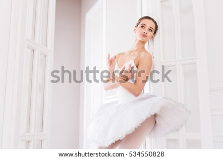 Amazing classical dancer crossing her arms