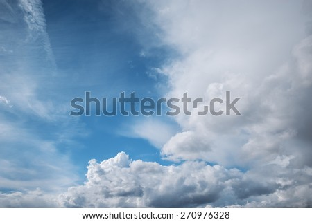 Amazing cloudscape on the sky at midday time. - stock photo