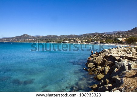 Amazing coastline near St.Florent, Corsica, France