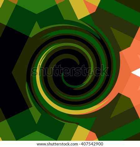 Amazing colorful backgrounds spiral design. Crazy and funny abstract spirals in amazing colors - stock photo