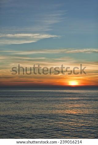 Amazing dusk in Spain.  - stock photo
