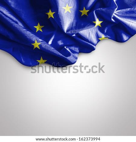 Amazing Flag of European Union - stock photo