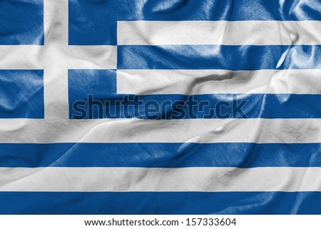 Amazing Flag of Greece , Europe - stock photo