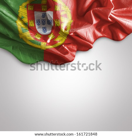 Amazing Flag of Portugal, Europe - stock photo