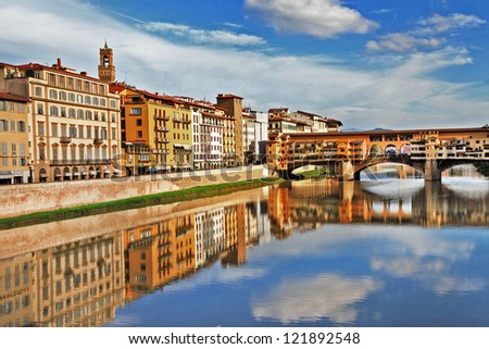 amazing Florence - travel in Italy series - stock photo