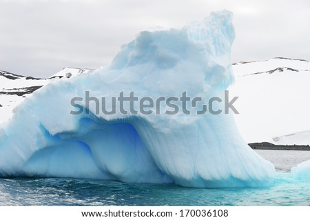 Amazing Iceberg at The Antarctica, the southernmost continent