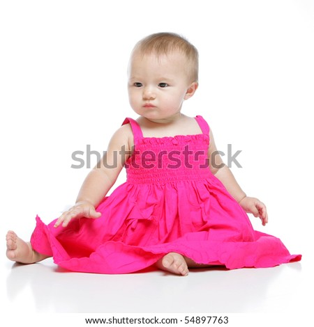 Amazing image of a precious baby girl - stock photo