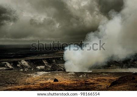 Amazing Image of the Kilauea Volcano on the big Island of Hawaii - stock photo