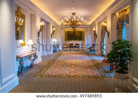 amazing interior design hall room ritz stock photo royalty free
