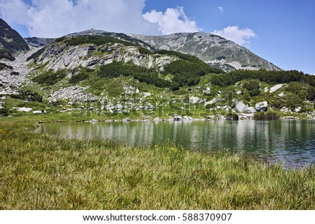 Amazing Landscape of Muratovo lake,  Pirin Mountain, Bulgaria