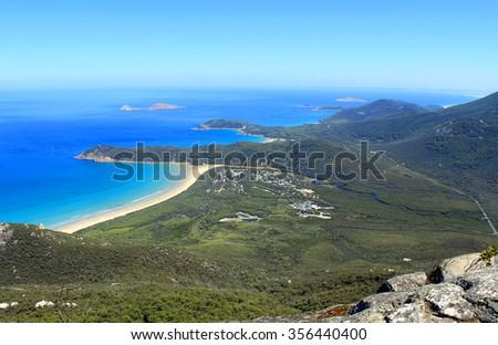 Amazing lookout at Mount Oberon, Wilsons Promontory, Victoria, Australia - stock photo