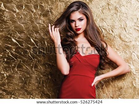 Cream n gold dresses shutterstock