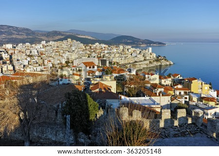 Amazing Panorama to Kavala, East Macedonia and Thrace, Greece