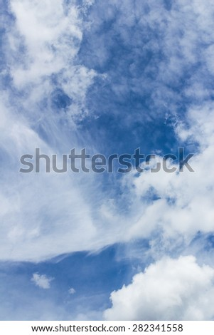 Amazing sky with clouds background. - stock photo