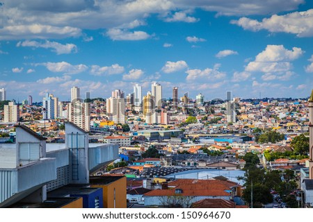 Amazing skyline of Sao Paulo, Brazil - Latin America - stock photo