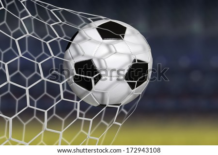 Amazing soccer goal - stock photo