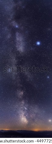 amazing star night with southern part of milky way galaxy