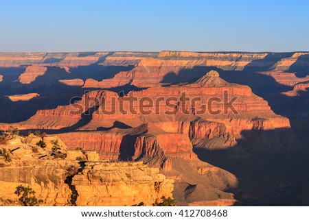 Amazing Sunrise Image of the Grand Canyon taken from Mather Point