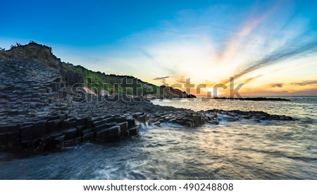 Amazing Sunrise seascape in Phu Yen - Vietnam vacation landscape