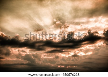 amazing sunset and clouds