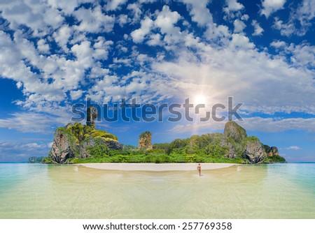 Amazing The tropical island landscape - stock photo