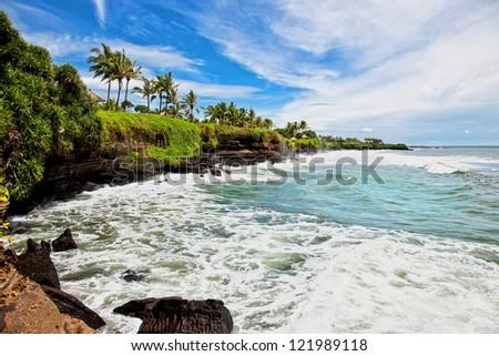 Amazing tropical landscape on Bali. Indonesia. - stock photo