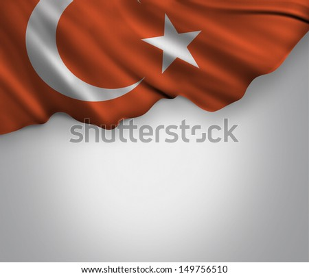 Amazing Turkish Flag - stock photo
