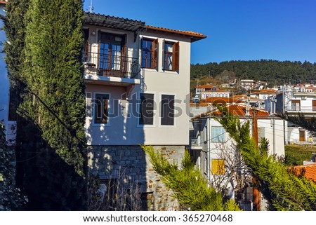 Amazing view of old town of Xanthi, East Macedonia and Thrace, Greece - stock photo