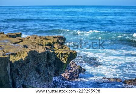 Amazing view of Pacific coast, near San Diego, California - stock photo