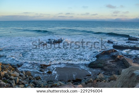 Amazing view of Pacific coast, near Santa Barbara, California - stock photo