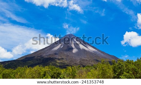 Amazing view of the Arenal Volcano in Costa Rica.
