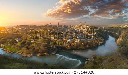 Amazing view of Toledo, Spain - stock photo