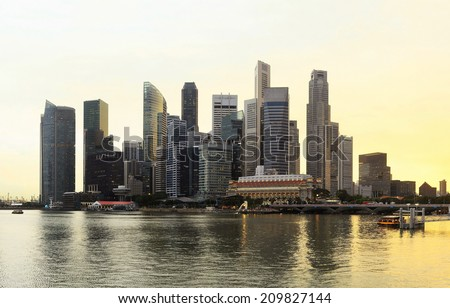 Amazing  view on Singapore business center