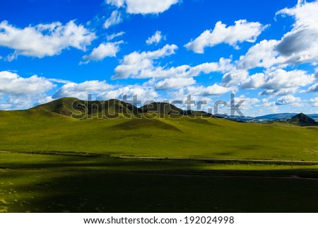 amazing Wulanbutong grassland in inner Mongolia,China