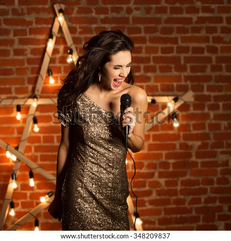 Woman Microphone Stock Images Royalty Free Images