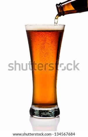 Amber Ale - stock photo