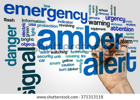Amber alert word cloud - stock photo