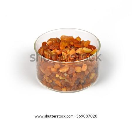 amber grains - stock photo