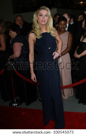 Amber Heard at the 64th Annual Directors Guild Of America Awards, Hollywood & Highland, Hollywood, CA 01-28-12