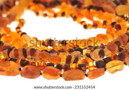 Amber Jewelry  - stock photo