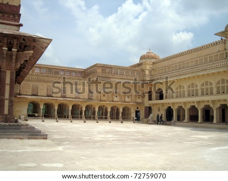 Amber Palace - a historic site in Jaipur, Rajasthan, India - stock photo