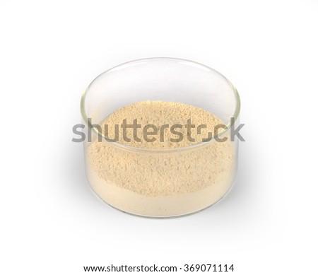 Amber powder - stock photo