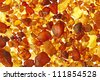 Amber stones from the beach of the Baltic Sea, Germany - stock photo