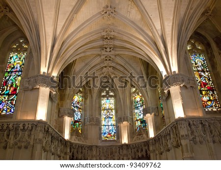Amboise castle. Chapel where Leonardo da Vinci is buried.Valley of the river Loire. France - stock photo