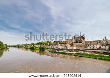 Amboise Chateau in The Loire Valley, France - stock photo