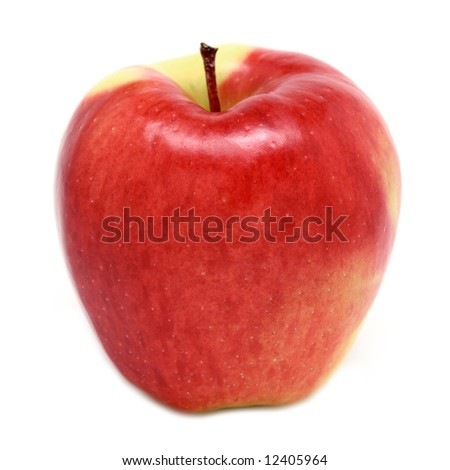Ambrosia Apple isolated on white - stock photo