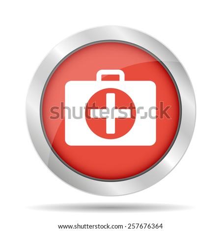 ambulance icon - stock photo