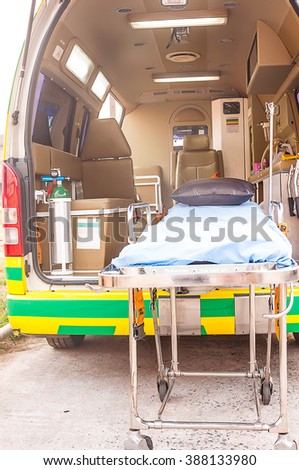 ambulance use for emergency patient - stock photo