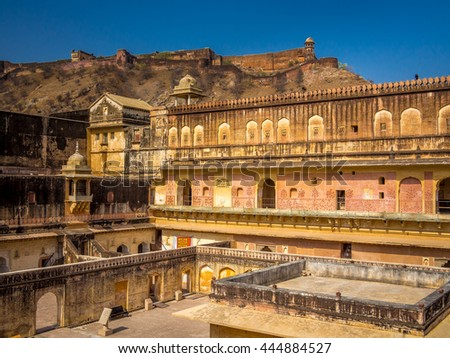 Amer (Amber) Fort in Jaipur, Rajasthan, India